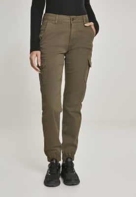 Pants with leg pocket and high waist oliv fram