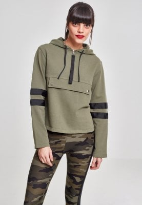 Ladies Peached Terry Troyer Hoody camo