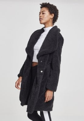 Ladies Sherpa Coat black