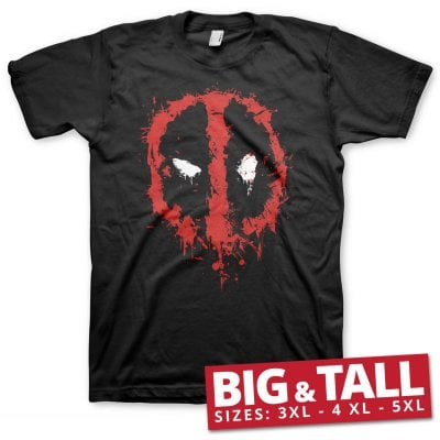 Deadpool splash icon big and tall T-shirt