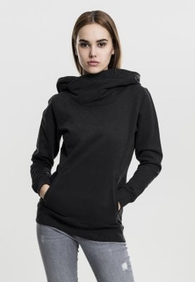 Hoodie with high neck black