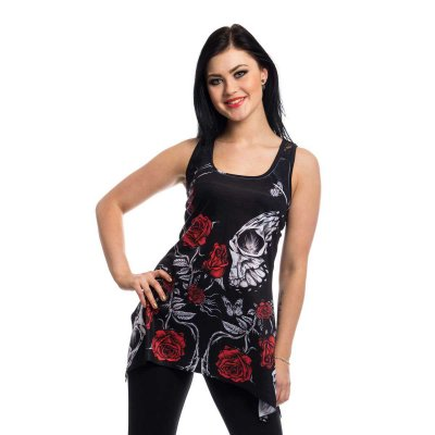 Immortal love lace panel vest