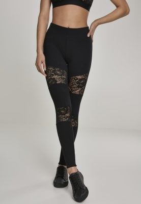 Ladies Laces Inset Leggings