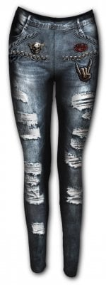 Torn demin leggings