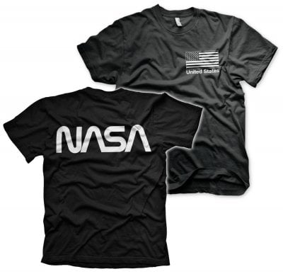 NASA black flag T-shirt sort