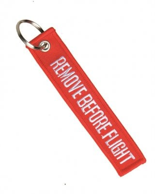 Remove before flight tag