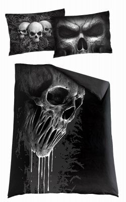 Skull scroll single duvet cover + UK and EU pillow case 1