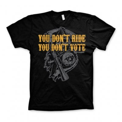 SOA - Don't Ride Don't Vote t-shirt