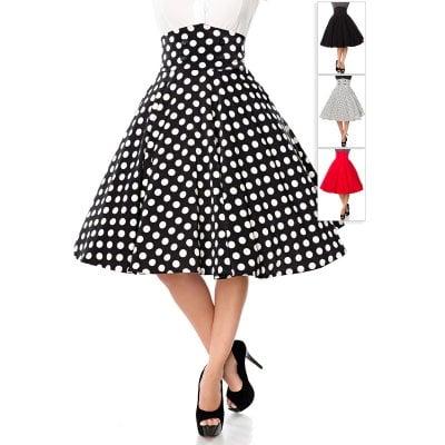 nederdel med høj talje