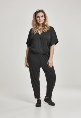 Sort jumpsuit dame plussize