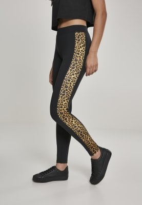 Sorte leggings med leopardhud