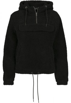 sherpa pull over hoody