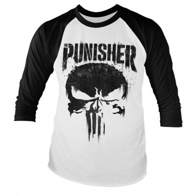 Marvel klæder, The Punisher baseball longsleeve