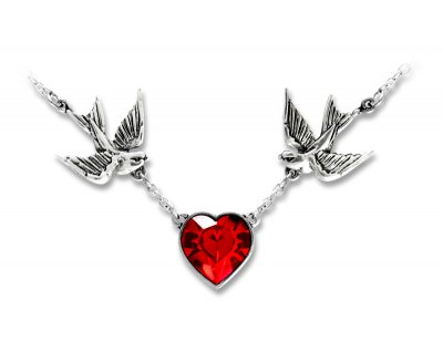 Necklace swallow heart