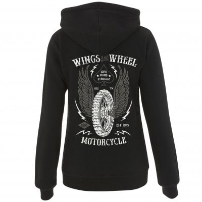 Wings And Wheels Ziphoodie Dame 1