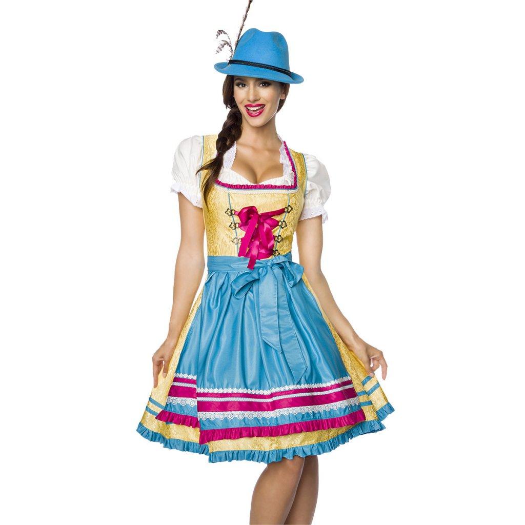 Farverig tyrolsk kjole - Oktoberfest - Kostumer - Oddsailor.dk