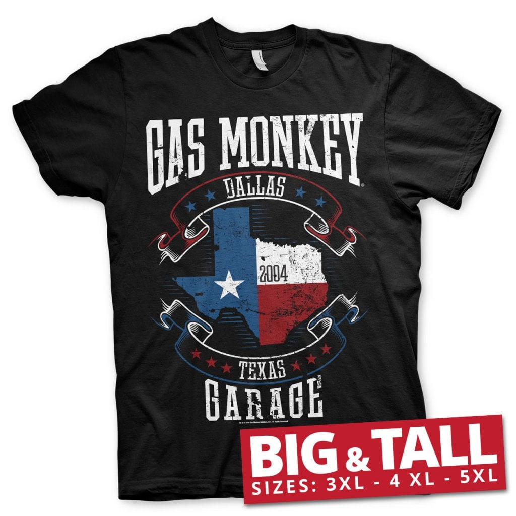 Gas Monkey Garage texas flag big and tall T shirt T