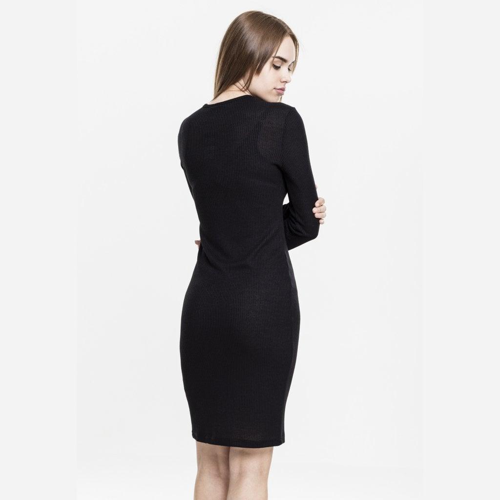d18ae1cb27f6 Ribbed kjole med høj hals - Kjoler - Damer - Oddsailor.dk